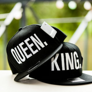 King & Queen petten caps fotoshoot