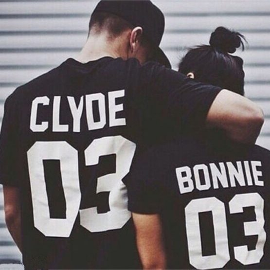 Bonnie and Clyde t-shirts zwart