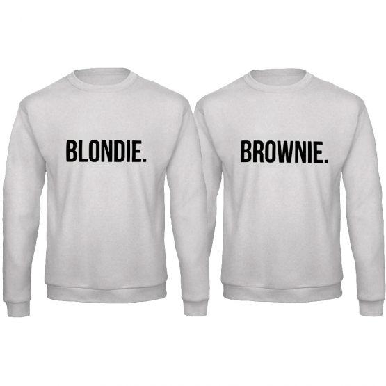 Blondie Brownie trui grijs zwart