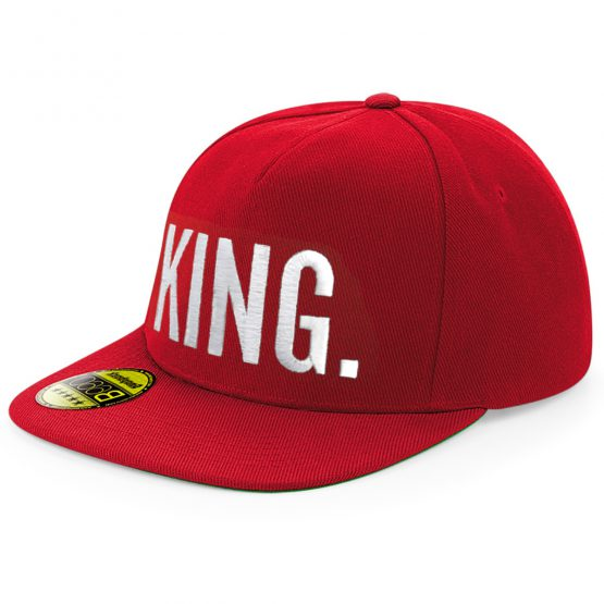 King Snapback cap Rood