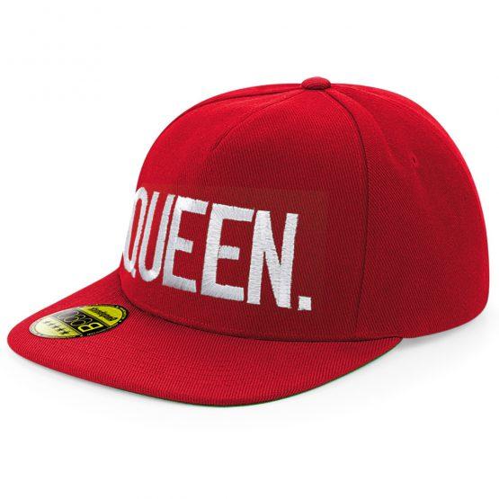 Queen Snapback cap Rood