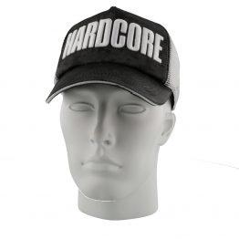 Hardcore trucker cap zwart wit