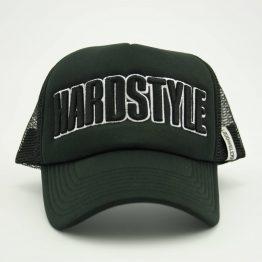 Hardstyle trucker pet zwart wit