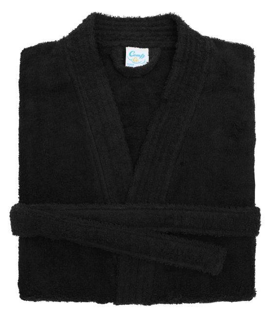 King & Queen badjas zwart opgevouwen