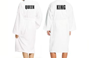Nu ook King & Queen badjassen voor thuis!