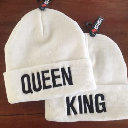 King Queen beanie mutsen