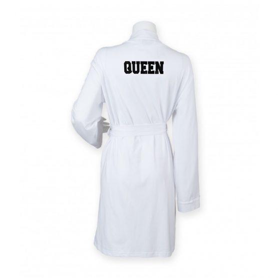 Queen badjas wit