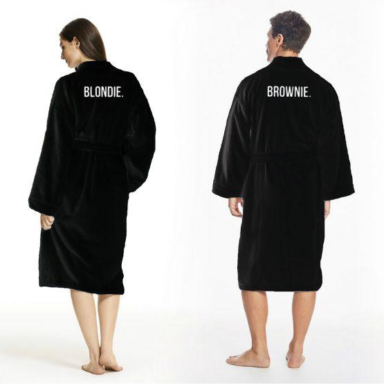 Blondie Brownie badjas zwart