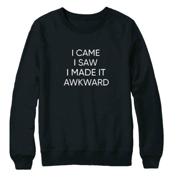 I came I saw I made it awkward sweater