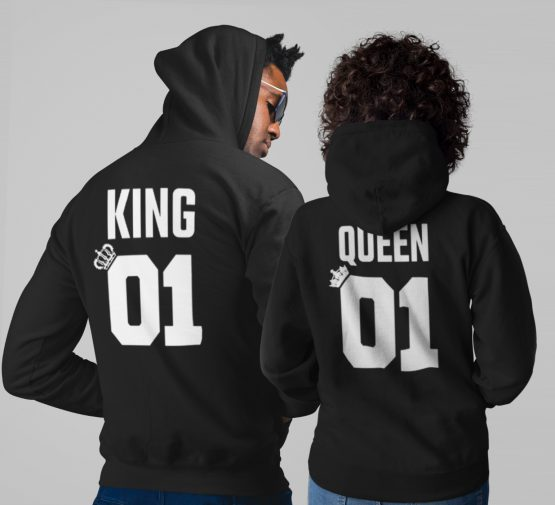 King 01 Queen 01 Hoodies