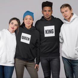 King Queen Hoodies Blok