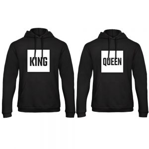 King Queen hoodie blok