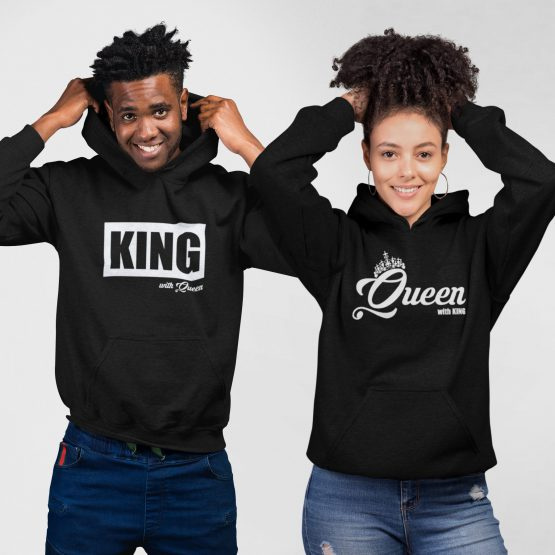 King Queen hoodies groot