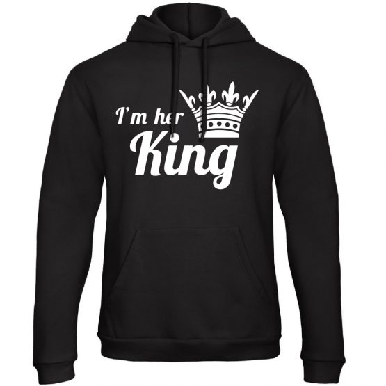 King Queen hoodie his en hers