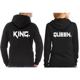 King Queen hoodie stoer