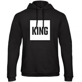 King Queen hoodie sweater blok