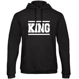 King Queen hoodie sweater lines