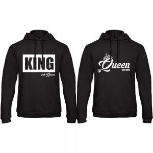 King Queen hoodies groot