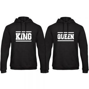 King Queen hoodie trui lines