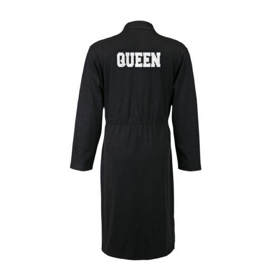 Queen badjas zwart