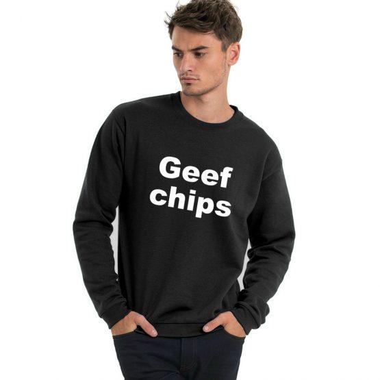 Geef chips trui sfeerfoto