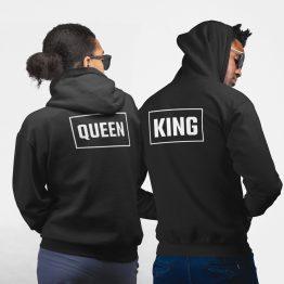 King Queen Hoodies Rechthoek