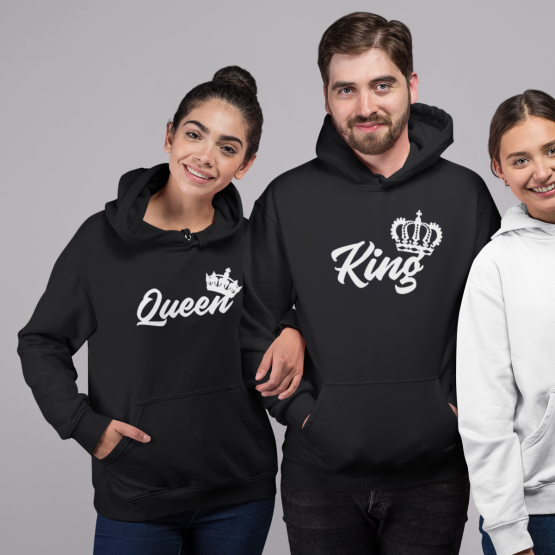 King Queen Hoodies Royal