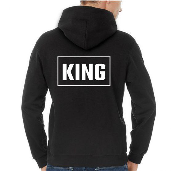 King Queen hoodie rechthoek