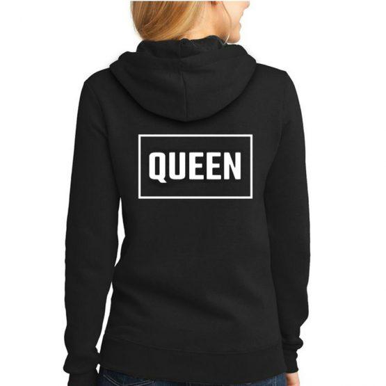 Queen hoodie rechthoek