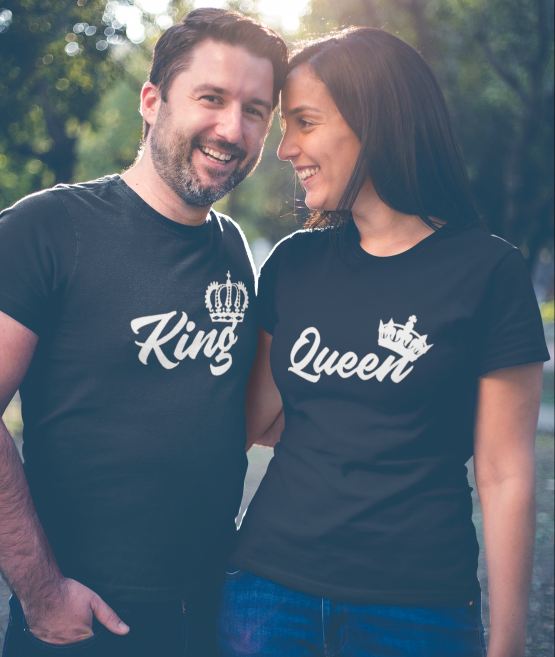 King Queen Shirts Royal