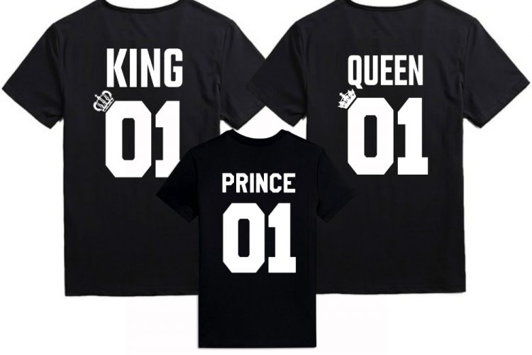 King Queen Prince shirts