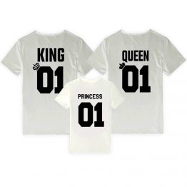 King Queen Princess shirts