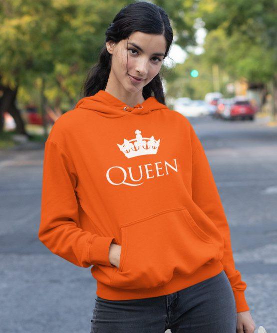Koningsdag Hoodie Queen Kroon