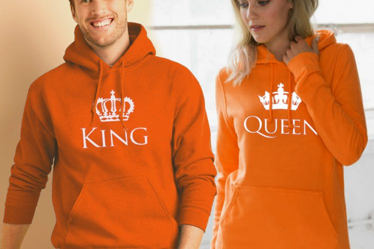 Koningsdag hoodie Classic sfeerfoto