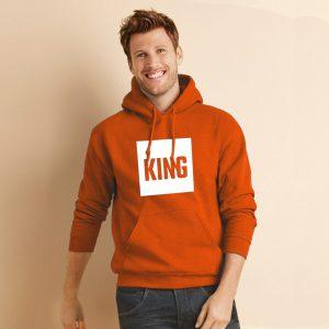 Koningsdag hoodie blok sfeerfoto