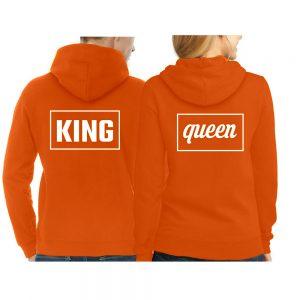 Koningsdag hoodie trui Rechthoek