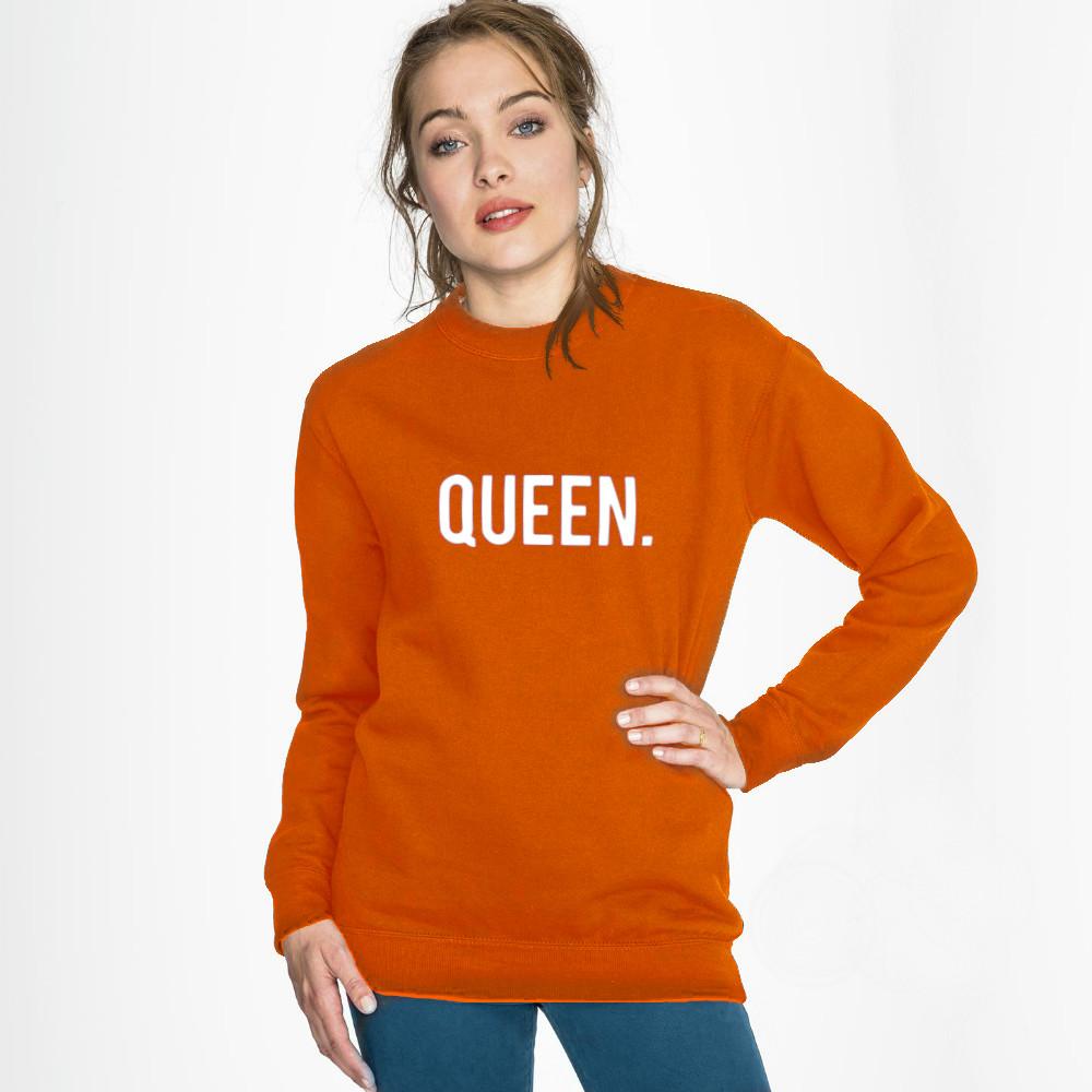 Oranje Trui.Koningsdag Trui King Queen Binnen 2 Dagen In Huis Tijdelijk 24 95