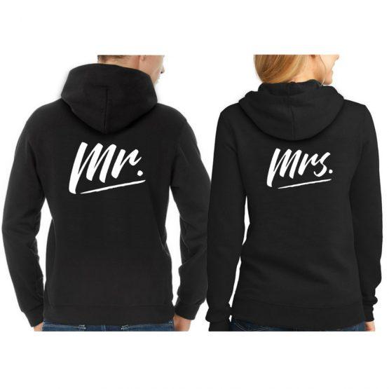 Mr en Mrs hoodie trui