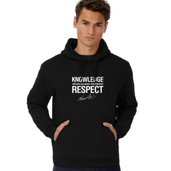 Bruce Lee hoodie Knowledge Quote