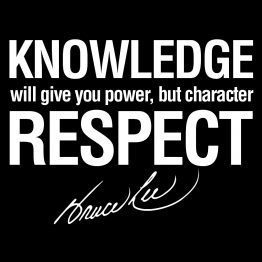 Bruce Lee shirt Knowledge Quote 1