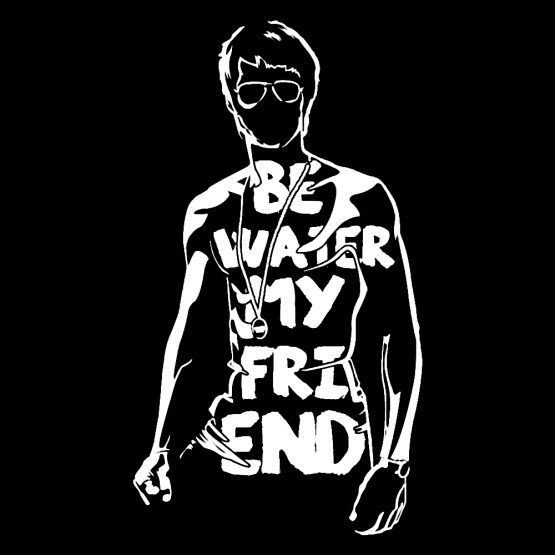 Bruce Lee shirt water bedrukking