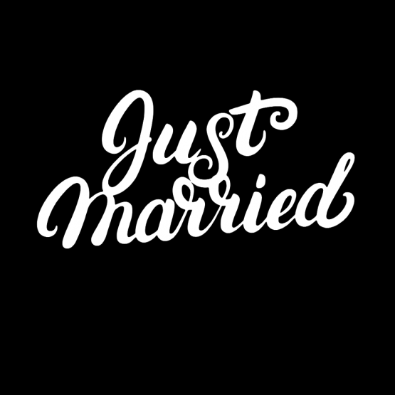 Just Married Shirt Bedrukking 01