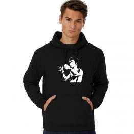 Bruce Lee hoodie silhouet
