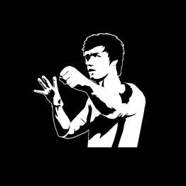 Bruce Lee silhouet