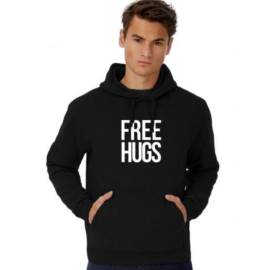 Free Hugs hoodie text
