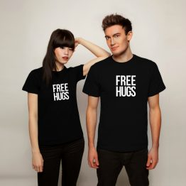 Free Hugs shirt text
