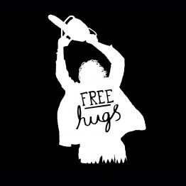 Free hugs kleding chainsaw