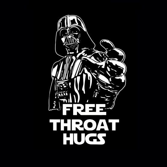 Free throat hugs silhouet