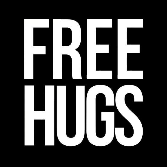 Free hugs text