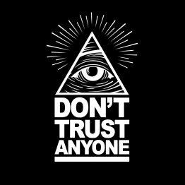 Illuminati hoodie sweater dont trust opdruk
